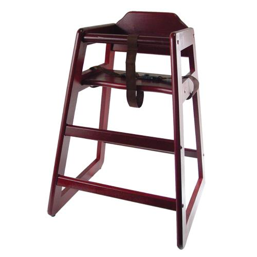wooden restaurant style high chair child seat mahogany