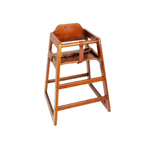 Wooden restaurant style high chair child seat dark wood color ebay
