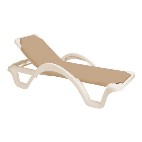 Grosfillex us218166 catalina taupe sandstone chaise for Catalina chaise lounge