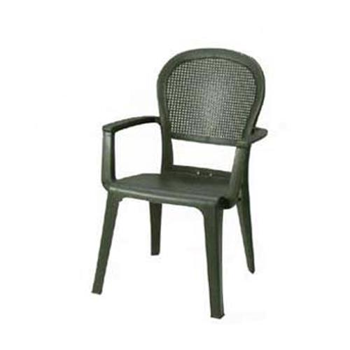 Grosfillex 46105002 Charcoal Seville Highback Armchair