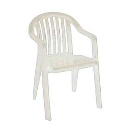 Grosfillex US282304 White Miami Lowback Armchair ETundra