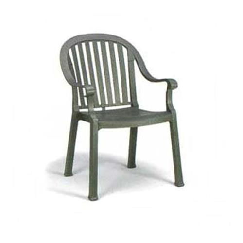 Grosfillex US496502 Charcoal Colombo Dining Armchair