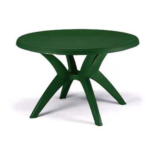 Grosfillex us526778 46 in round amazon green ibiza for Table exterieur grosfillex