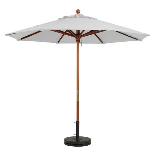 grosfillex 98910431 9 ft white market umbrella etundra