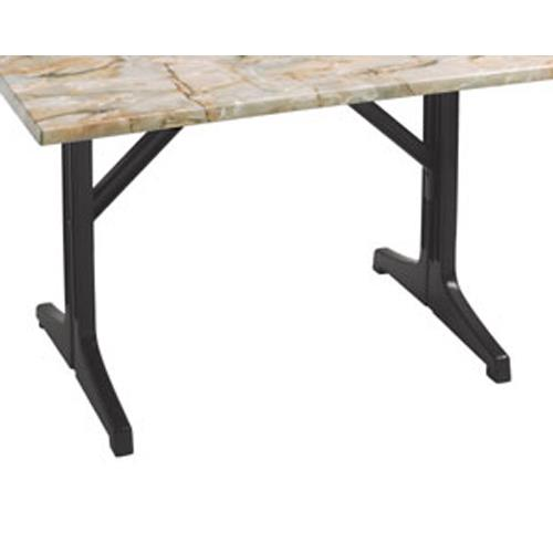 Grosfillex 55618302 charcoal lateral table base etundra for Table exterieur grosfillex