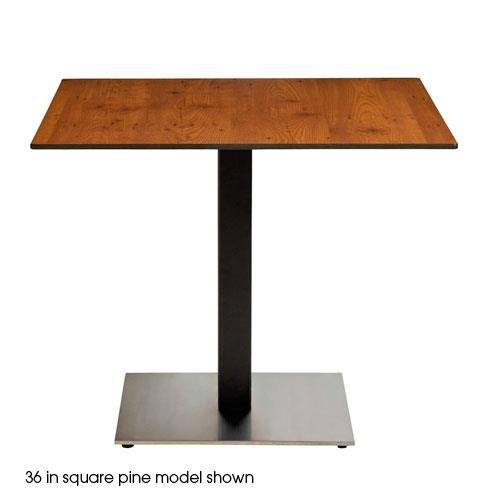 Grosfillex us30hp92 30in square pine hpl tabletop etundra for Table exterieur hpl