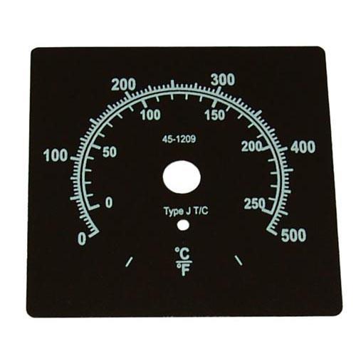 0deg 500degF Dial Plate