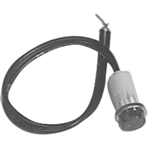 Commercial Electric Light Parts: Commercial - 125V Hat Raised Red Signal Light