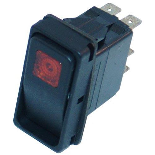 Momentary On/Off 6 Tab Lighted Rocker Switch at Discount Sku 19994 421325
