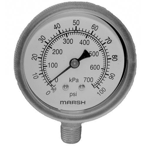 0 100 PSI Pressure Gauge