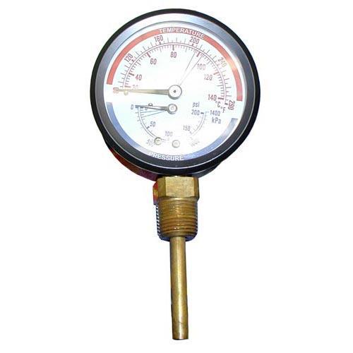 0 200 PSI PressureTemperature Gauge