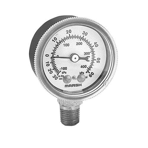 30 60 PSI Bottom Connection Pressure Gauge