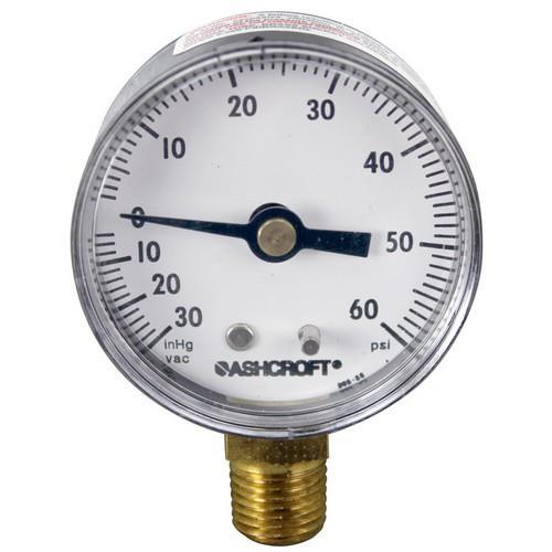 Commercial - 099156 - (-30) - 60 PSI Bottom Connection Pressure Gauge