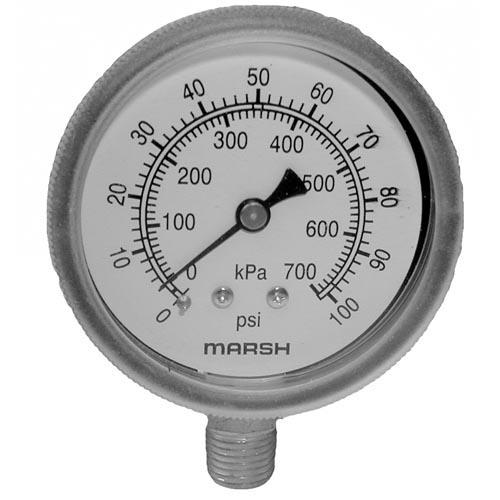 0 100 PSI Dishwasher Pressure Gauge