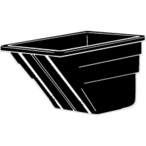 1 12 cu yd Black Tilt Truck Body