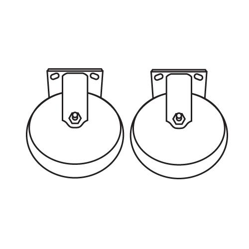 "6"" Rigid Casters at Discount Sku 7931-L3 RUBFG7931L30000"