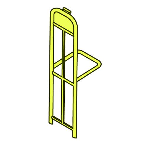 UpRight w/ Handle Yellow at Discount Sku 9T50-L2 RUBFG9T50L2YEL