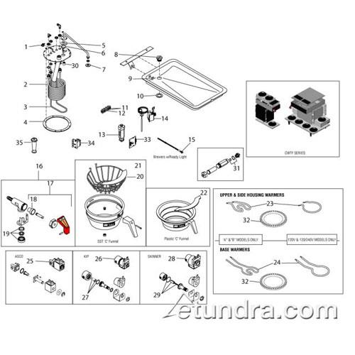 bunn   cwtf series parts