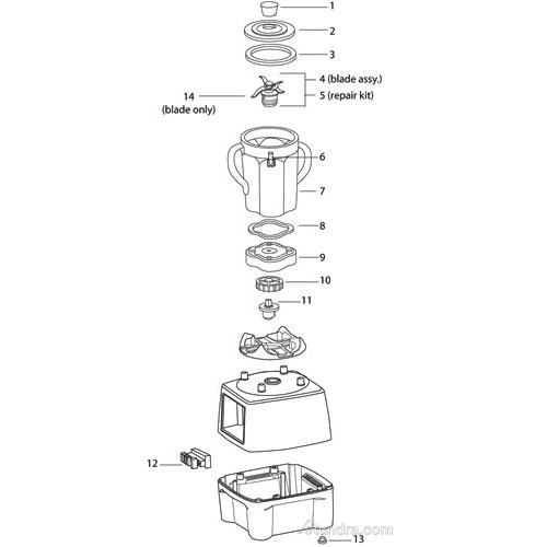 waring parts diagrams tundra restaurant supply legion of breakdown diagram waring cb6 blender parts image