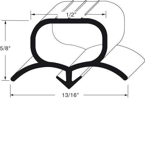"""48 5/8"""" Door Gasket at Discount Sku 712-024D-03 BEV712024D03"""