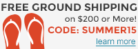 FreeGround Shipping when you spen $200 or more SUMMER15