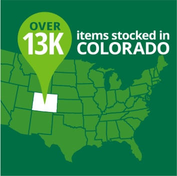 Over 13k items stocked in Colorado